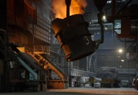 Oxygen convertors in Trinec Ironworks